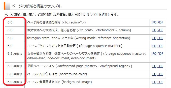 AH Formatter 公開サンプル
