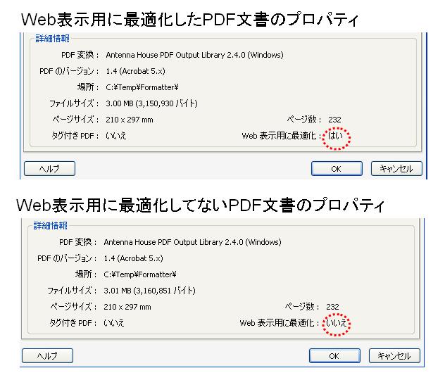 pdf web 表示 最適化